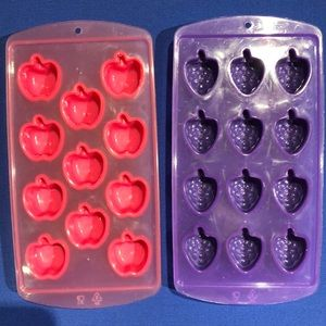 Other - Ice cube trays grape/apple